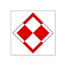 "Polish Air Force Insignia Square Sticker 3"" x 3"""