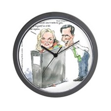 Ann Romneys Binder Wall Clock