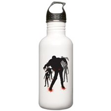 A Crowd of Zombies Water Bottle