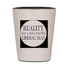 liberalbiasbutton Shot Glass