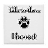 Basset Hound Talk Tile Coaster