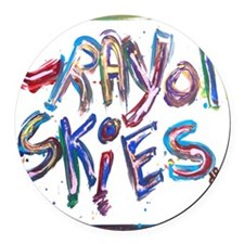 crayon skies Round Car Magnet