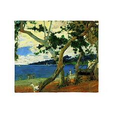 Paul Gauguin Beach Scene Throw Blanket