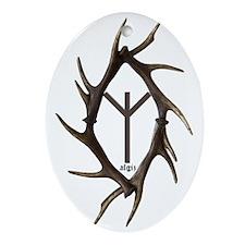 algiz Oval Ornament