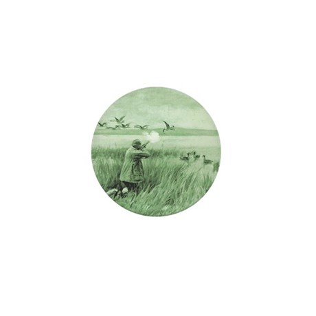 Hunting Wild Geese Mini Button