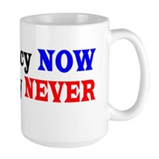 Democracy NOW Plutocracy NEVER Coffee Mug