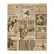 Vintage Rodeo Round-Up Throw Blanket