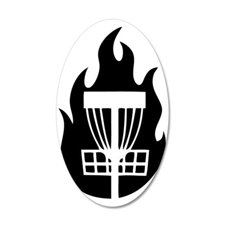 Fire Basket 35x21 Oval Wall Decal