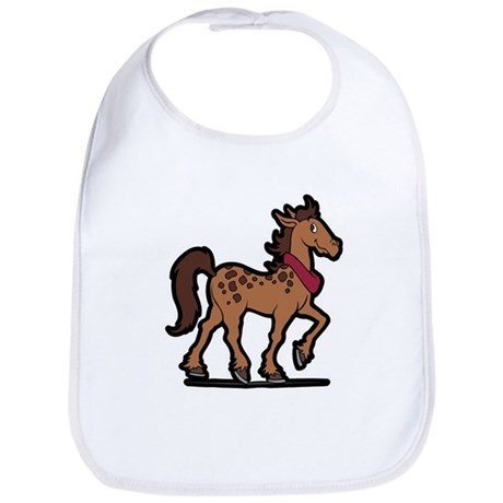 Cartoon Horse Art Western Bib