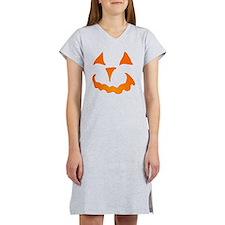 Pumpkin Face Jack-O-Lantern Women's Nightshirt