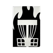 Fireball Basket black Rectangle Magnet