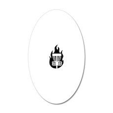 Fireball Basket black 20x12 Oval Wall Decal
