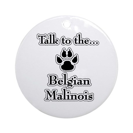 Malinois Talk Ornament (Round)