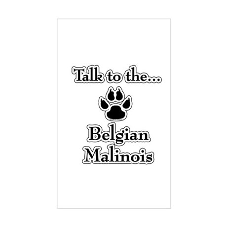 Malinois Talk Rectangle Sticker