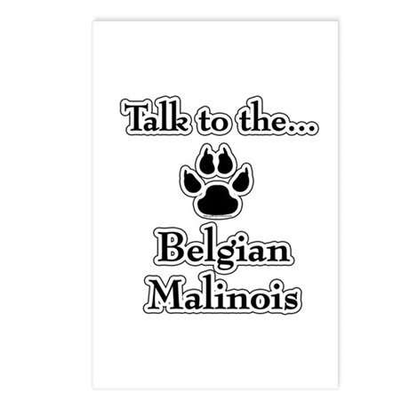 Malinois Talk Postcards (Package of 8)