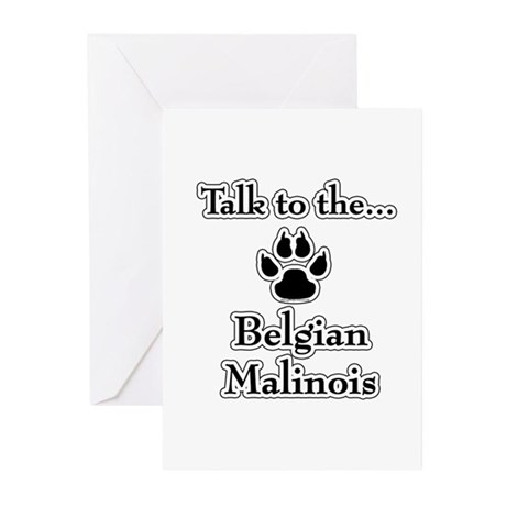 Malinois Talk Greeting Cards (Pk of 10)