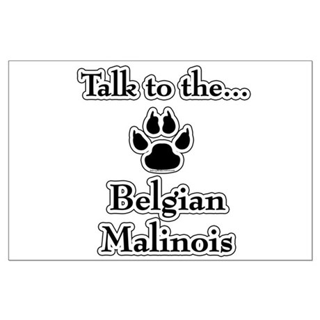 Malinois Talk Large Poster
