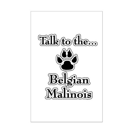 Malinois Talk Mini Poster Print