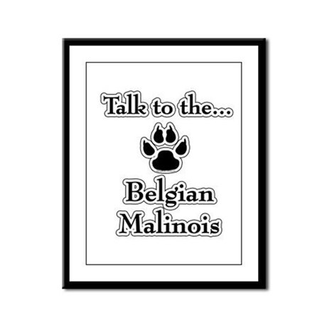 Malinois Talk Framed Panel Print