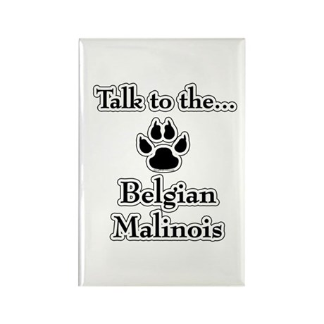 Malinois Talk Rectangle Magnet