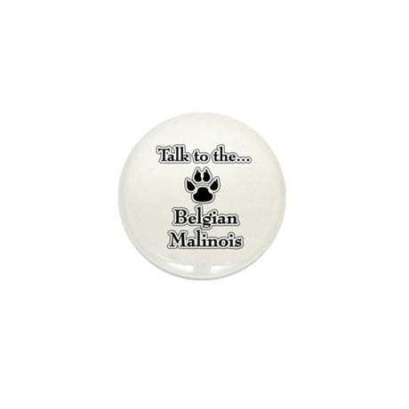 Malinois Talk Mini Button