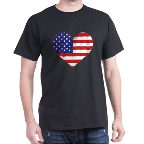 Stars & Stripes Heart Dark T-Shirt