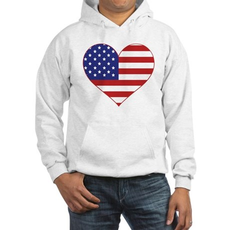 Stars & Stripes Heart Hooded Sweatshirt
