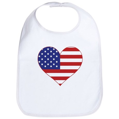 Stars & Stripes Heart Bib