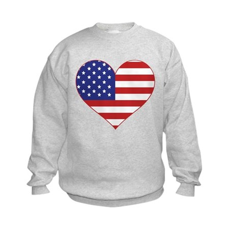 Stars & Stripes Heart Kids Sweatshirt