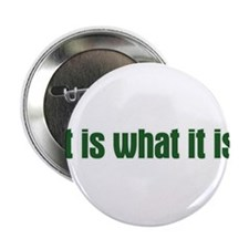 """it is what it is 2.25"""" Button (10 pack)"""