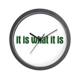 it is what it is  Wall Clock