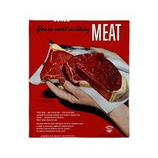 MeatPoster Throw Blanket