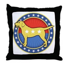 yellow-dog-T Throw Pillow