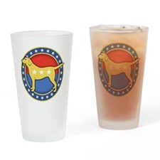yellow-dog-T Drinking Glass
