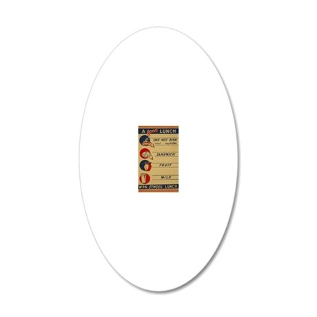 WPAlunchPOSTER 20x12 Oval Wall Decal