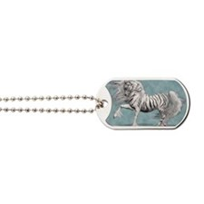 White Tiger Unicorn Dog Tags