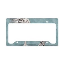 White Tiger Unicorn License Plate Holder