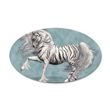 White Tiger Unicorn Wall Decal