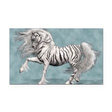 White Tiger Unicorn Rectangle Car Magnet