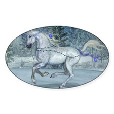 2012 Holiday Unicorn Blue Decal