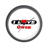 I Love Owen Wall Clock