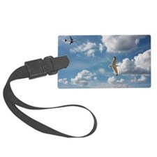 Bird and air plane fly together  Luggage Tag