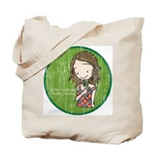 """I'm feeling lucky today"" Aged Tote Bag"