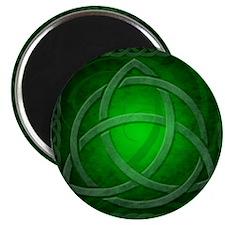 Vintage Celtic Dragon Knotwork Green Magnet