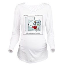 Snowman chillin Long Sleeve Maternity T-Shirt