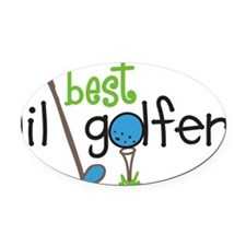 Best Lil Golfer Oval Car Magnet