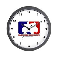 Major League Couch Potato Wall Clock