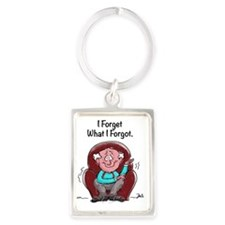 I Forget What I Forgot Portrait Keychain