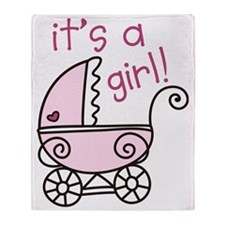 Its A Girl Throw Blanket