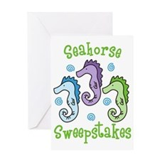 Seahorse Sweepstakes Greeting Card